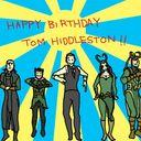 去年のトムヒ誕生日のときにつくったGIFです。ソー2プロモーションでトムヒが出てた韓国(多分)のバラエティー番組のトレースです。