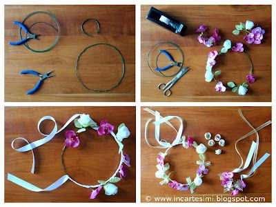 Incartesimi: Coroncina e bracciale di fiori per damigelle, bouttonnière - Tutorial