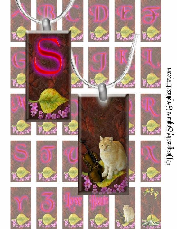 NEON PINK  1x2 inch Domino Style  Printable by SaguaroGraphics, $3.75