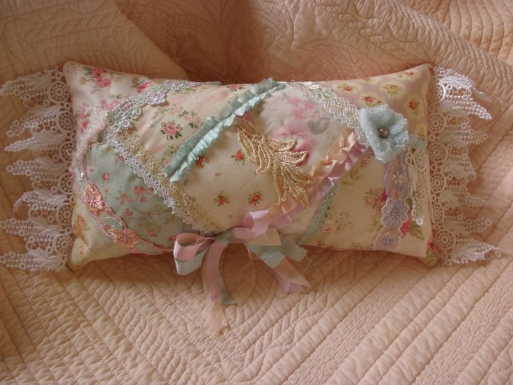 Sweet shabby chic pillow.