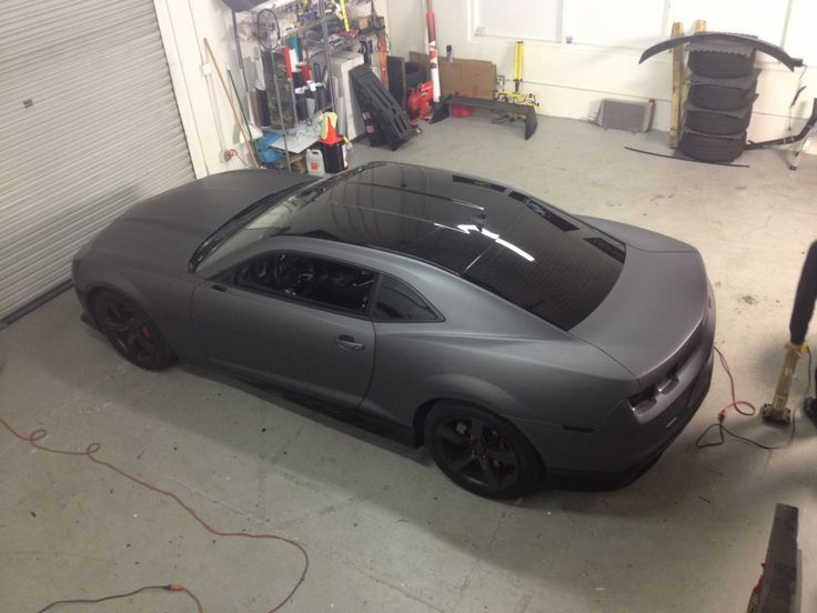 2010 Camaro Matte dark gray full wrap - Car Wraps and Vinyl Wraps in Orange County