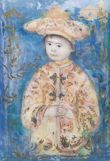 Little Emperor 1991 by Edna Hibel