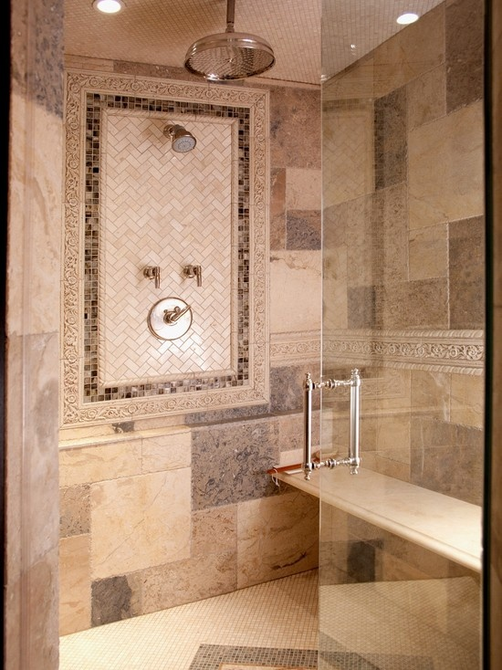herringbone tile shower design pictures remodel decor 16794