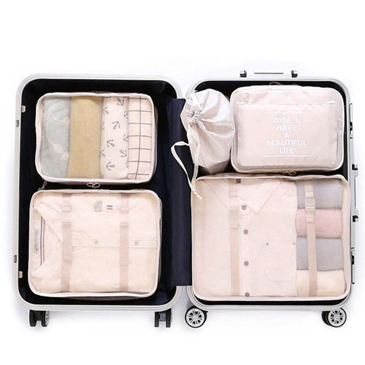 Luggage Packing Organizers Packing Cubes Set for Travel - Travel On The Fly | Acessórios de ...