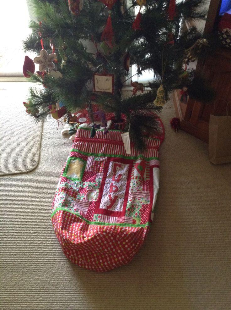 Christmas Santa bag made for Ruby