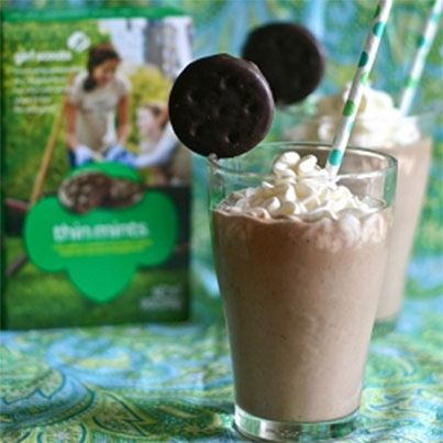 Girl Scouts Thin Mint Milkshake