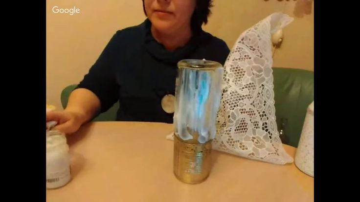 Делич Светлана. Декор стеклянной бутылки для масла в стиле прованс 24.01.17