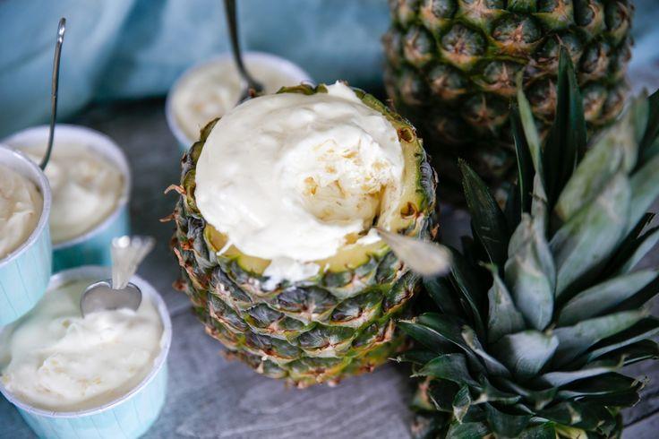 Enkel och fantastiskt god ananasglass!