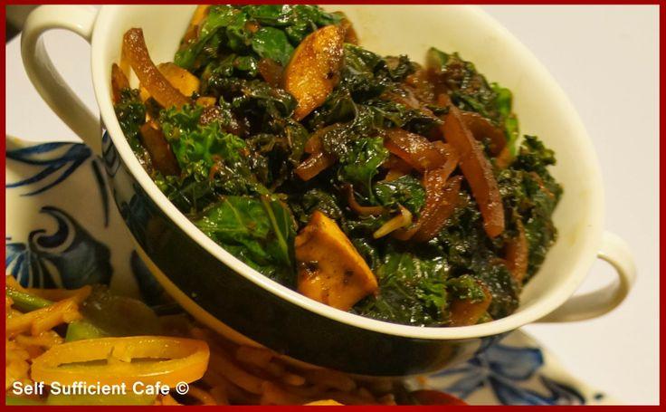 Kale & Mushroom Stirfry