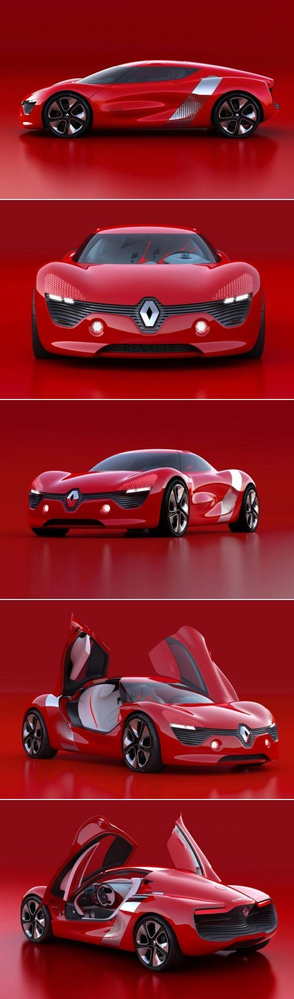 Renault DeZir ~ an electric powered concept car . It's really to bad , they never build any of these concepts