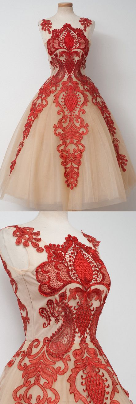 Cheap Prom Dresses, Short Prom Dresses, Prom Dresses Cheap, Champagne Prom Dresses, Cheap Short Prom Dresses, Homecoming Dresses Cheap, Cheap Short Homecoming Dresses, Cheap Homecoming Dresses, Prom Dresses Online, Short Homecoming Dresses, A-line/Princess Party Dresses, Champagne Homecoming Dresses, Short Party Dresses, Short Champagne Homecoming Dresses With Applique Knee-length Scalloped Sale Online