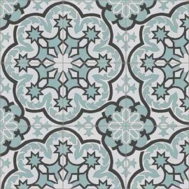Cementine con antichi decori. Design e colori tradizionali