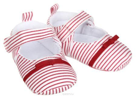 Luvable Friends Пинетки  — 679р. ------------------------------- Пинетки для девочки Luvable Friends, стилизованные под туфельки, станут стильным дополнением к гардеробу малышки. Изделие выполнено из хлопка и полиэстера. Модель дополнена удобной застежкой на липучке, надежно фиксирующей пинетки на ножке малышки. На стопе предусмотрен прорезиненный рельефный рисунок, благодаря которому ребенок не будет скользить. Изделие оформлено принтом в полоску, декорировано металлизированной блестящей…