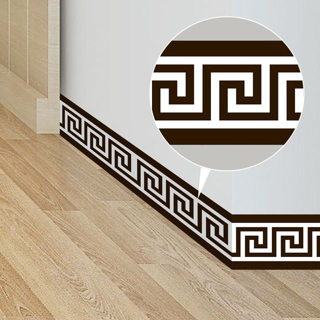 Funlife10 200cm Geometric Pattern Waist Lines Self Adhesive Waterproof Removable Wall Border Stickers For Home Wall Borders Removable Wall Wall Decal Sticker #wall #borders #for #living #room
