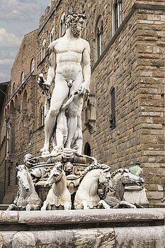Piazza Della Signoria, Florence, Italy, fountain of Neptune by George Westermak#George Westermak#FineArtPrints#travel#Italy