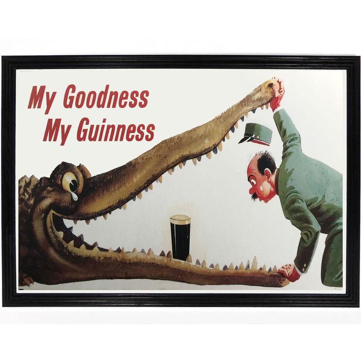 Guinness Crocodile Poster