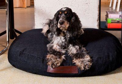 Denim dog bed design dog pillow petbed