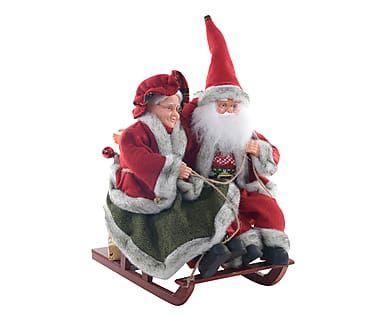 Babbo Natale musicale con movimento Slitta, 31x36x20 cm