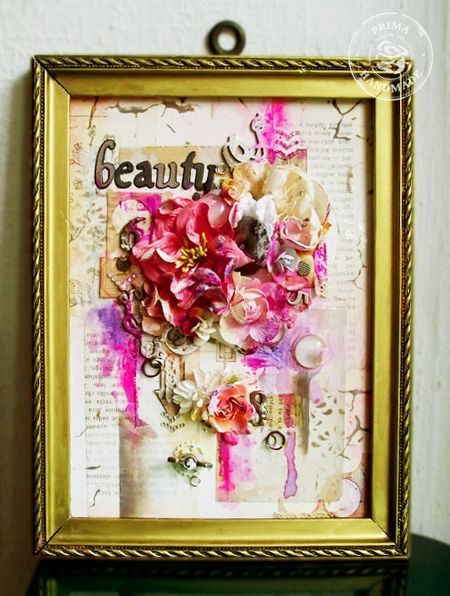 Going Pink for the Cure...framed canvas by Kasia Krzyminska! #breastcancerawareness #primamarketing