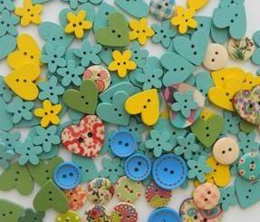 CraftStudio - Материалы для творчества разноцветные пуговицы