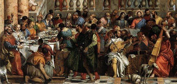 Paolo Veronese, Bruiloft te Kana, 1563, detail