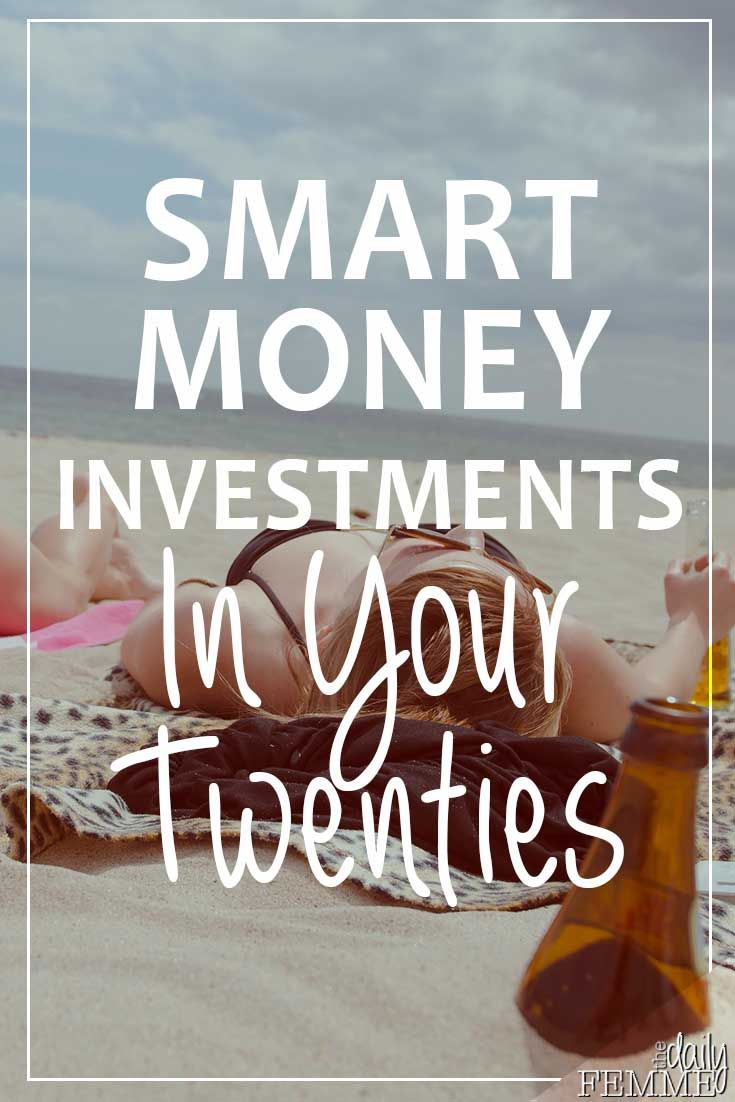 Your twenties can be a time of parties, travel and doing what you please... but there are a few smart money investments in your twenties you should consider
