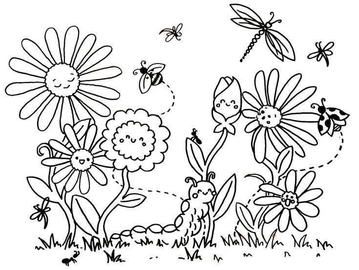 Fruhling Blumen Ausmalen Ausmalbilder Blumen Ausmalbilder