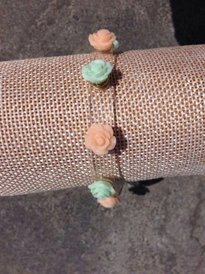Roosjes armbandje voor smalle en bredere pols voor 6,95 bij Beaudeliek op fb