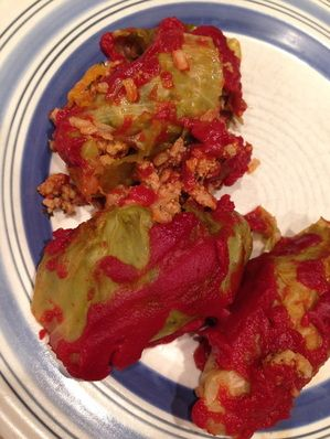 Clean Stuffed Cabbage Rolls  They're lean, clean and 21 Day Fix Extreme approved!