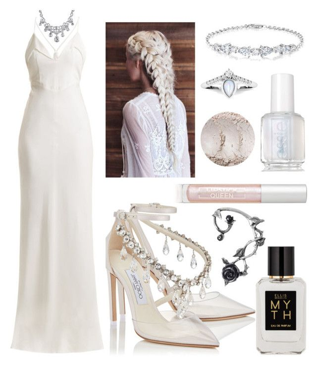 """untitled #7"" by kwharmony on Polyvore featuring Jimmy Choo, Essie, Galvan, Bling Jewelry, Ellis Brooklyn and Lipstick Queen"