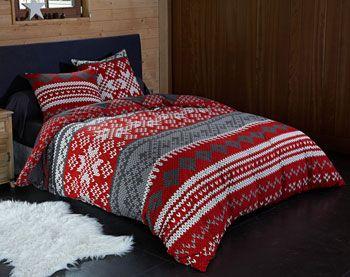 Parure de lit motif tricot - 2 ou 3 pièces