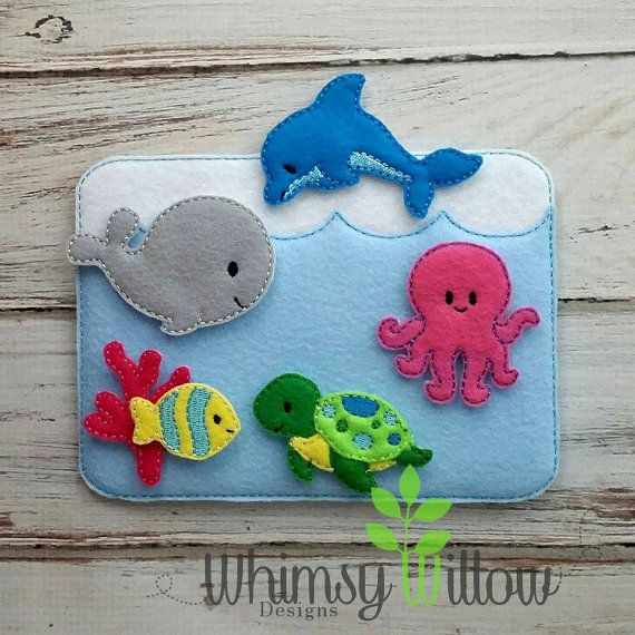 Ocean Felt Playset ITH Embroidery Design by WhimsyWillowEmb