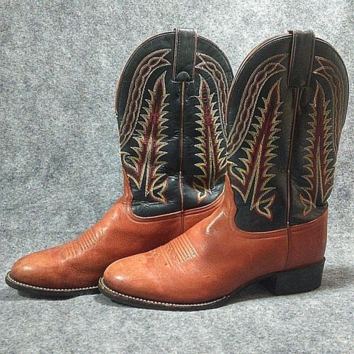 309eb6b7f0f Details about Used Tony Lama Distressed WESTERN COWBOY BOOTS Men's ...