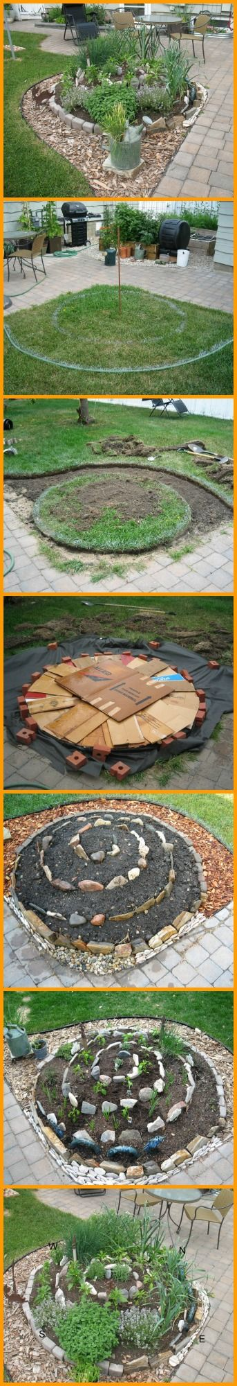 Plant your herbs in a unique way. This spiral garden shows you how. http://theownerbuildernetwork.co/09in