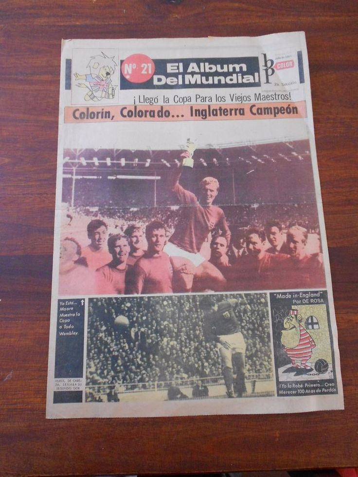 ENGLAND 66 FIFA Soccer World Cup Uruguay newspaper ENGLAND CHAMPION  | eBay