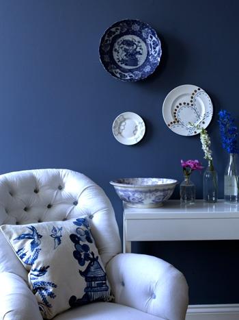 Bluebirds cushion