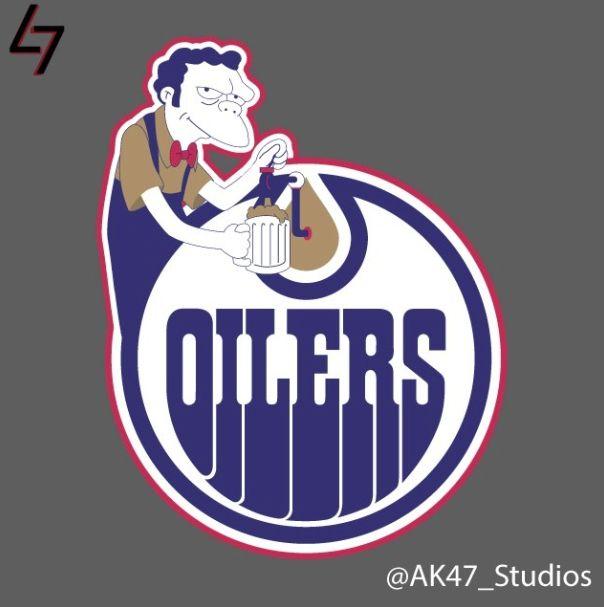 Simpsons NHL Logos