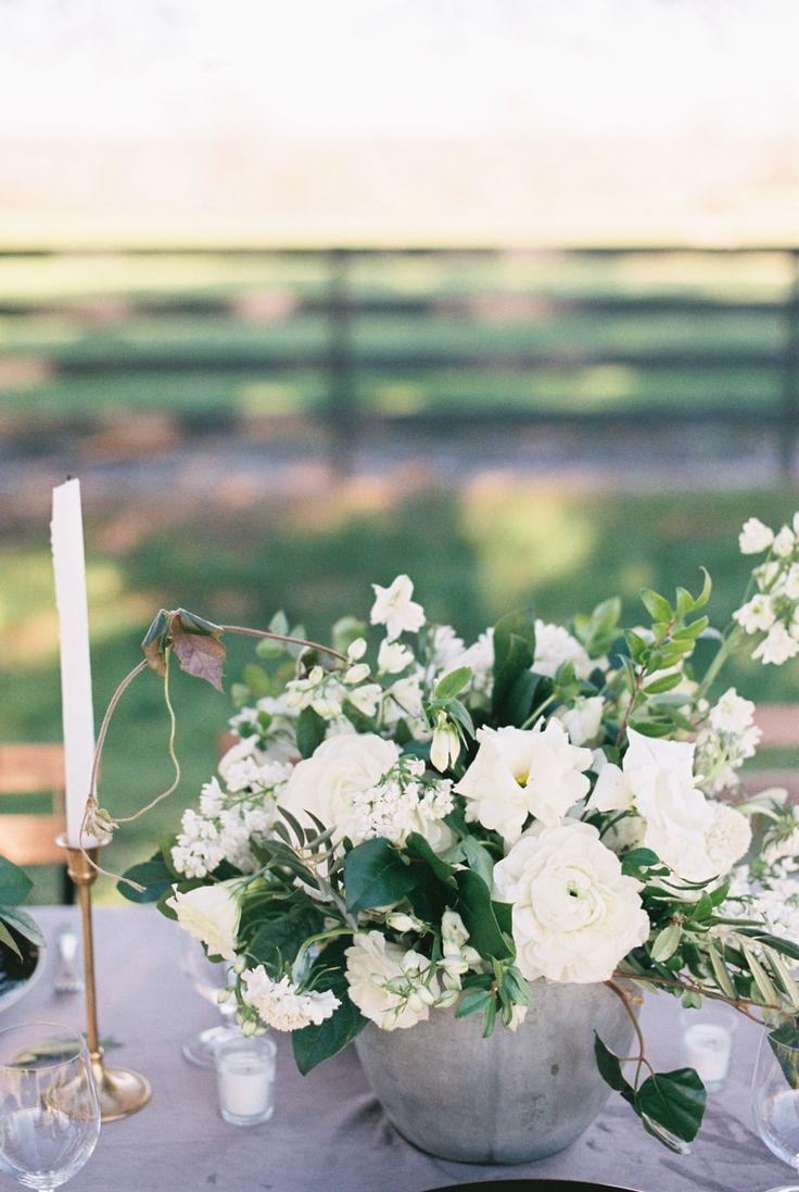 White apron gainesville fl - Centerpiece From Washington Texas Wedding Inspiration Http Www Trendybride Net