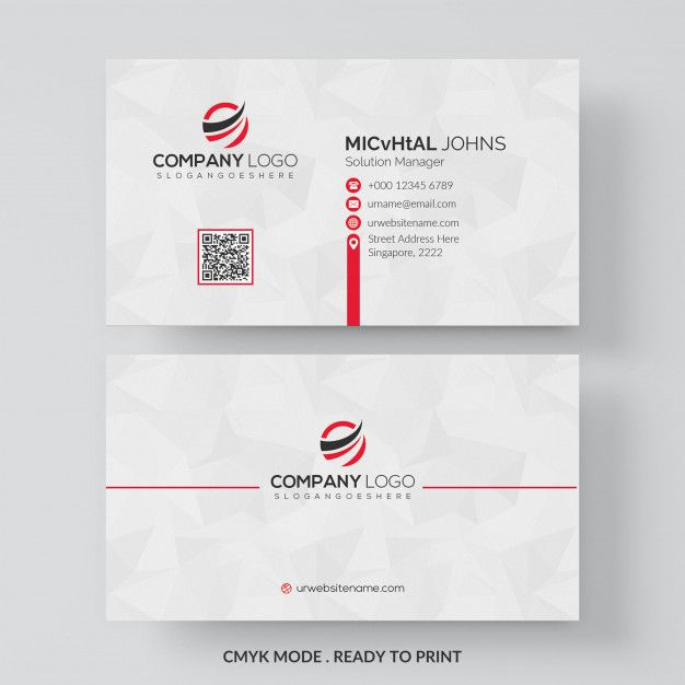 Download White Business Card With Red Details For Free White Business Card Simple Business Cards Business Card Design Inspiration