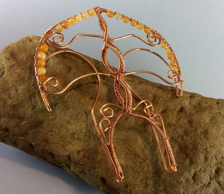 Golden Jade & Copper Elf Ear Cuffs by BearBranches