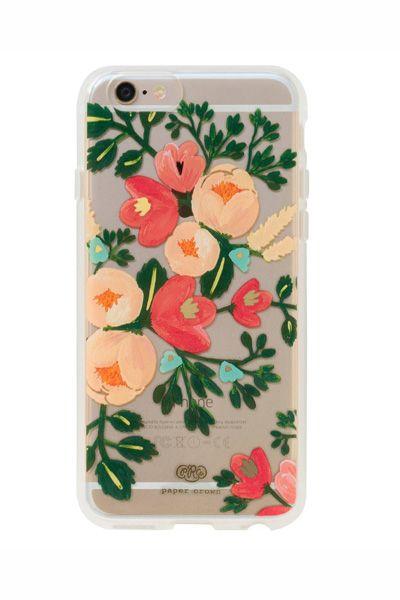 rifle_paper Rifle Paper Co. (ライフルペーパー)x Paper Crown Clear Peach Blossom iPhone 6/6S 対応スリムケース