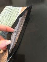 Montering af lynlås og for i hæklet pung