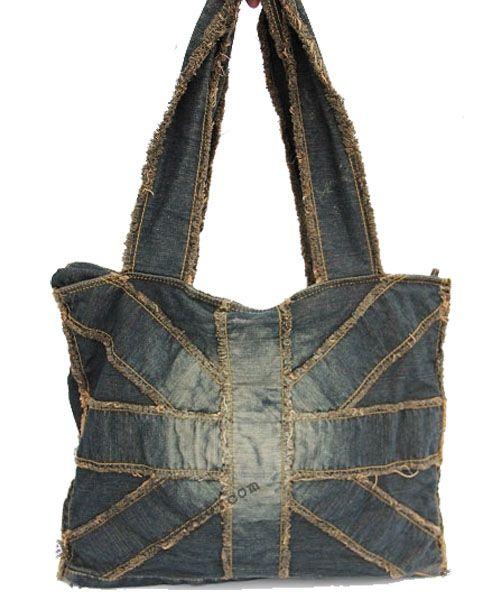 Vintage Denim Shoulder Bag