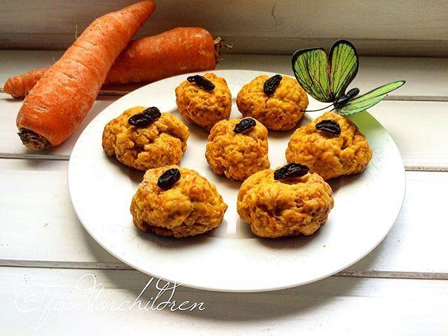 Очень вкусные морковные печеньки без яиц.