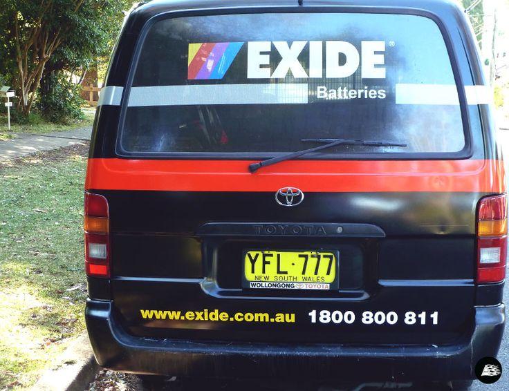 Fleet Branding, Exide Batteries, Van Wrap, Toyota Hiace
