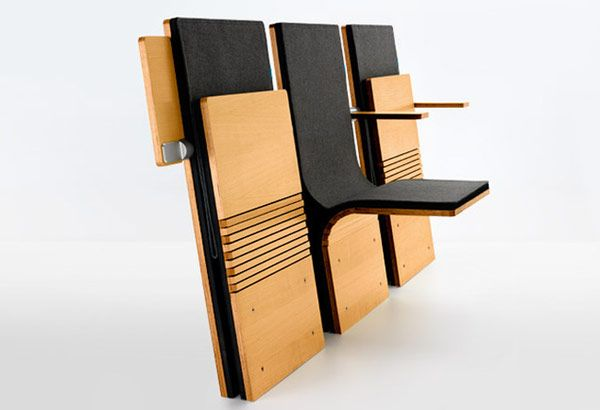 Jumpseat, a chair especially developed for auditoriums, perfectly blending style and function