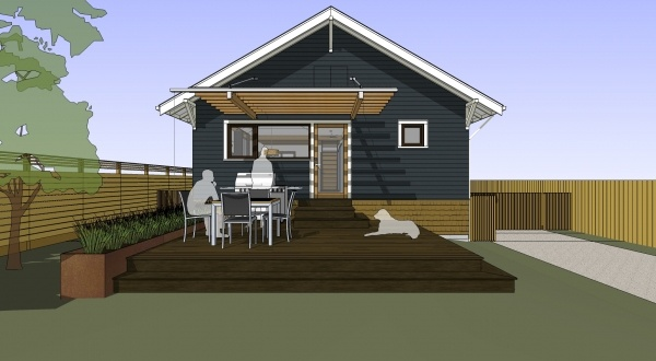 deck design...love the flower box on the side