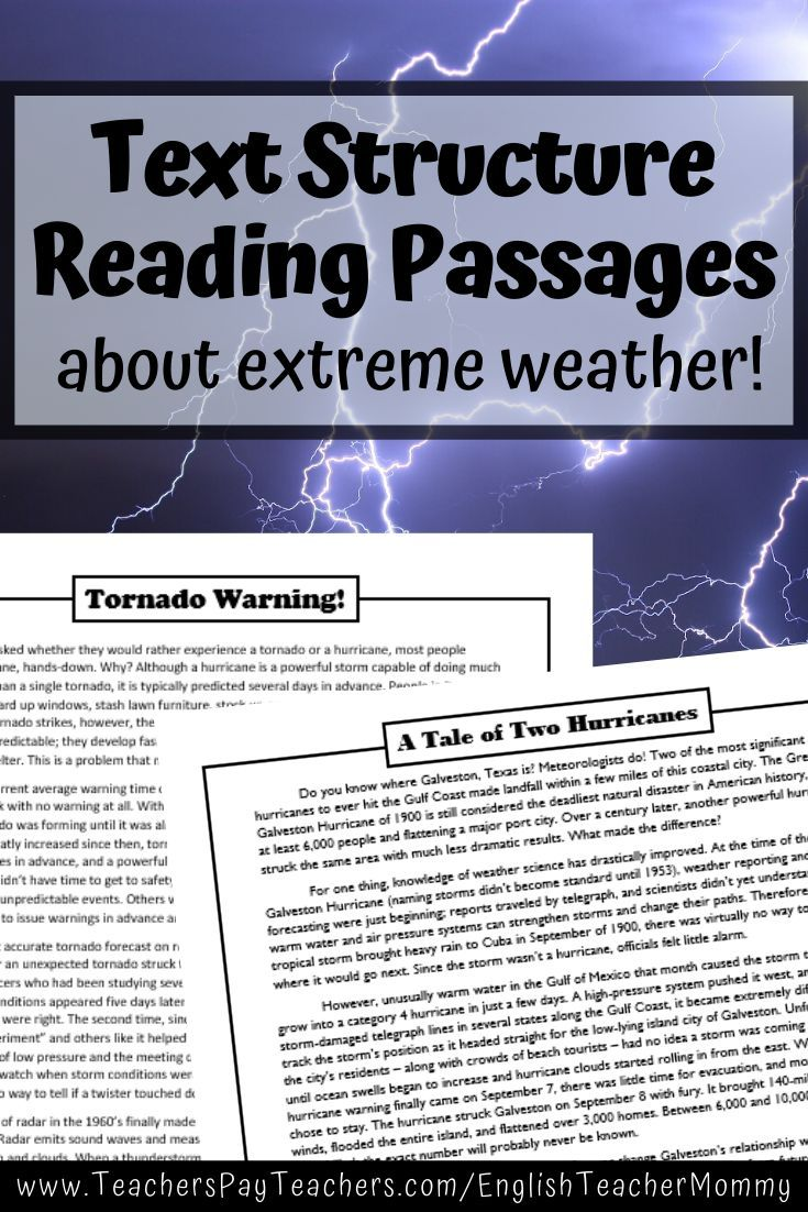 Digital Nonfiction Text Structure Passages About Weather Distance Learning In 2020 Nonfiction Text Structure Reading Passages Nonfiction Text Structure Passages