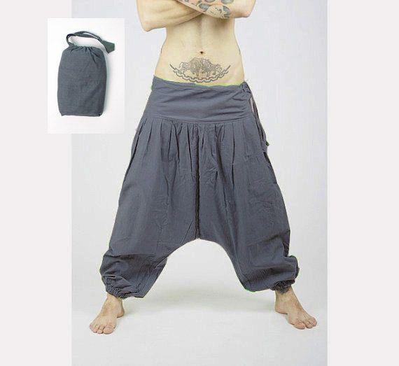 Harem Pants -  Aladdin Pants - Harem Trousers - Yoga Pants - Cotton Afghani Pants - Alibaba Pants - Hammered - Men - Woman