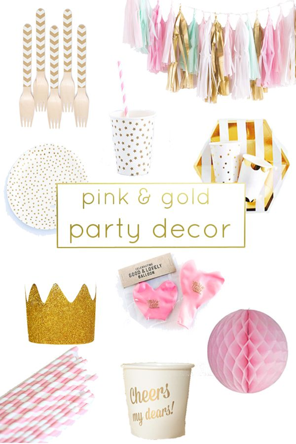 Have you noticed the abundance of pink and gold parties? It makes me so happy. I have to assume that you want to make a pink and gold party in the near future (and that you are inviting me) so to help you with the planning, here are some great sources for pink and gold…